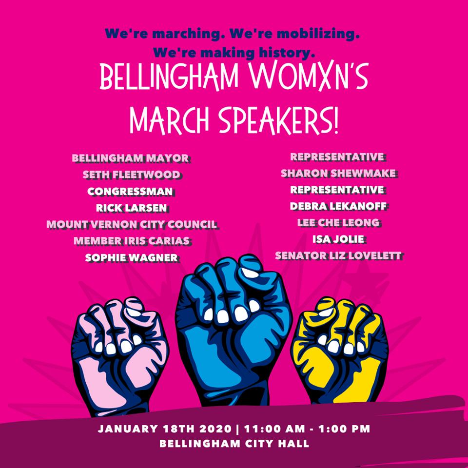 Womxn's March Speakers 2020